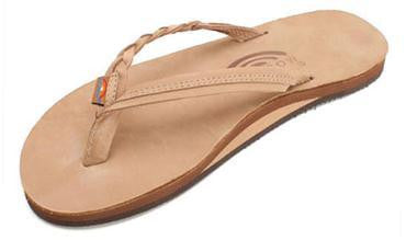 Rainbow Sandals Women's Flirty Braidy Sierra Brown Single Layer Leather 301ALTSBSRBRL - SURF WORLD Florida