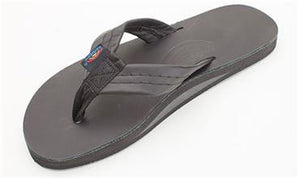 Rainbow Men's Sandal Classic Leather Black Single Layer 301ALTS0-TTBK SURF WORLD