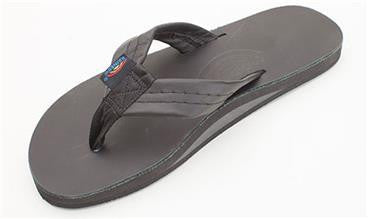 40e35ef03 Rainbow Men s Sandal Classic Leather Black Single Layer 301ALTS0TTBKM -  SURF WORLD Fort Lauderdale Florida