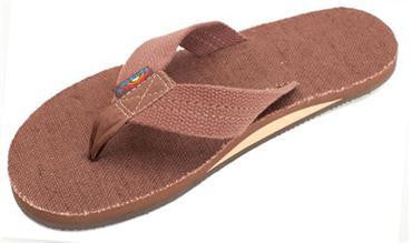Rainbow Men's Hemp Brown Single Layer Arch Sandals 301AHTS0BRN0 - SURF WORLD Fort Lauderdale Florida