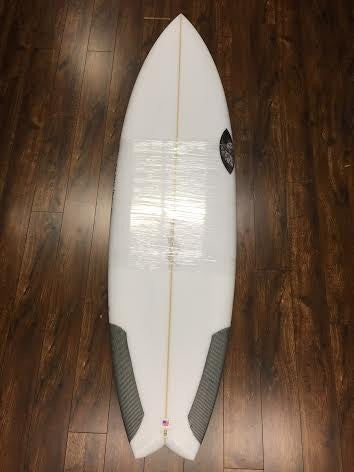 Sharp Eye Blow Fish 5'10 Carbon Stringer FCS II Surfboard 39063 - SURF WORLD Florida