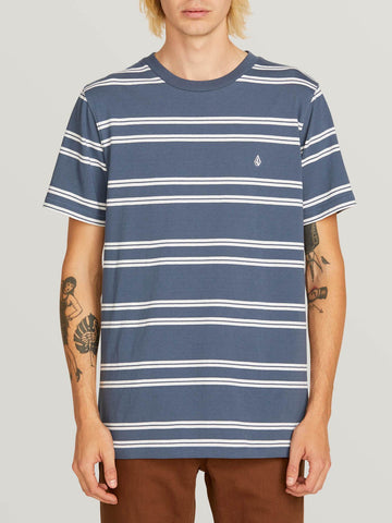 Volcom Beauville Crew Short Sleeve Shirt- Indigo