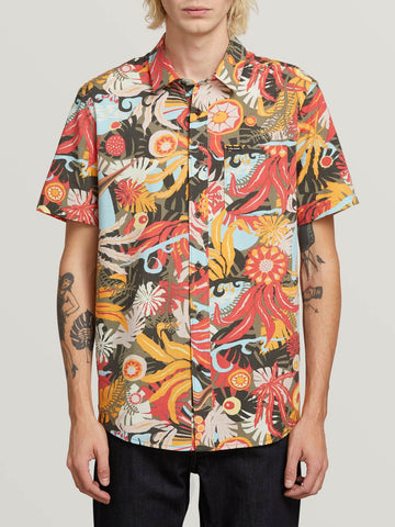 Volcom Psych Floral Short Sleeve Shirt Army