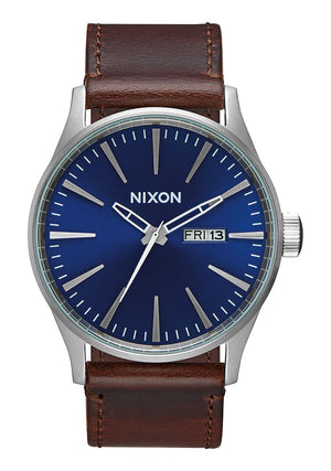 Nixon Sentry Leather - Blue Brown