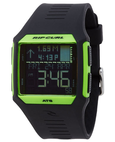 Rip Curl Rifles Tide Watch Flourscent Green Black - SURF WORLD Florida