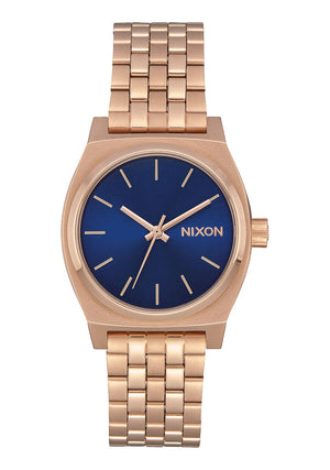Nixon Medium Time Teller Watch - Rose Gold Indigo Black