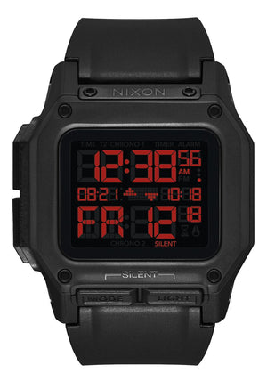Nixon Regulus Digital Watch - All Black Red