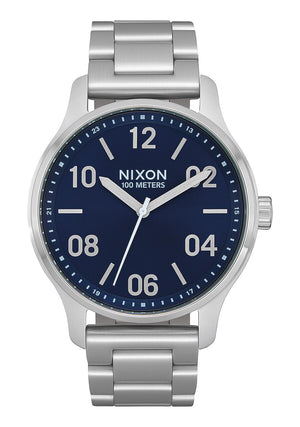 Nixon Patrol SS Navy Silver Watch