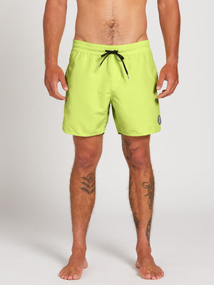 "Volcom Lip Solid Mens Trunk 16"" - Highlighter Green / Hydro Blue"