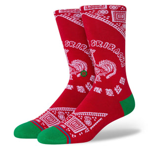 Stance Sriracha Hot Sauce Socks - Red  size 9 -12