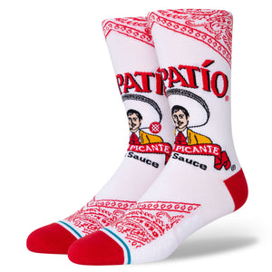 Stance Tapatio Hot Sauce Socks - White  size 9 -12