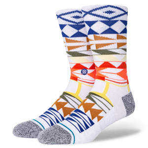 Stance Warrior Print Socks  Lg 9 -12 multi