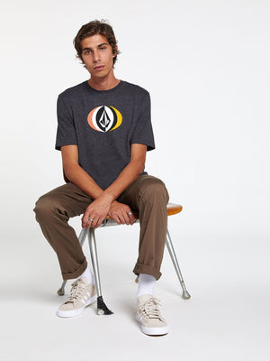 Volcom Layer Round S/S Tee - Heather Black