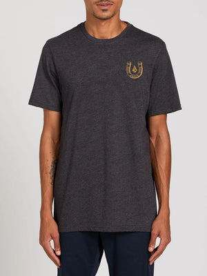 Volcom Lucky Yew SS Mens T Shirt - Heather Black