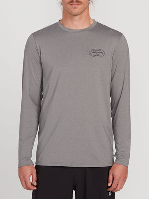 VOLCOM LIT LONG SLEEVE UPF 50 RASHGUARD - GREY