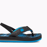Kid's Reef Ahi Light Up Prints Black Blue Sandals - SURF WORLD  - 2
