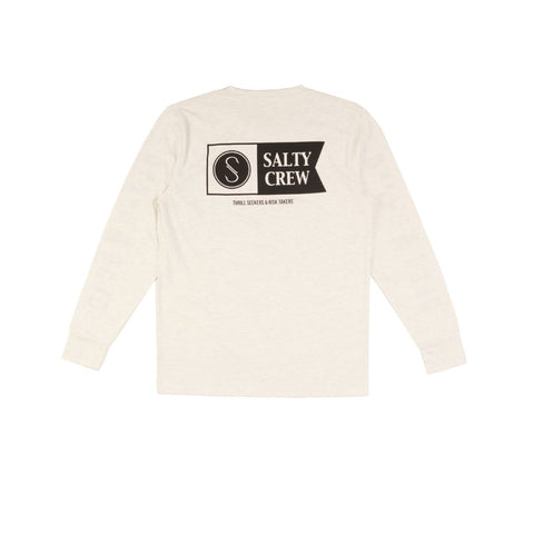 Salty Crew Alpha L/S Tech Tee - White Heather