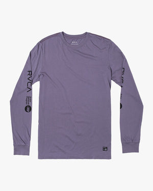 RVCA ANP Mens LS T Shirt - Purple Jade