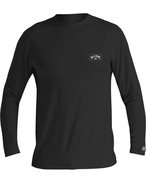 Billabong Arch Mesh Mens Loose Fit LS Rashguard - Black / Grey Heather