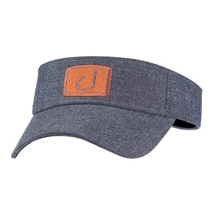 new concept db6a1 63543 Avid Iconic Fishing Visor - Grey Chambray