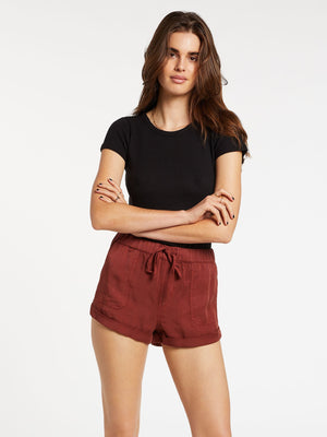Volcom Sunday Strut Womens Short - Brick