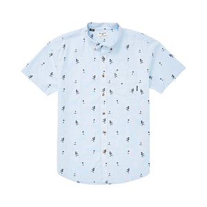 Billabong Sundays Mini SS Woven T Shirt - Light Blue SURF WORLD