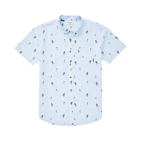 Billabong Sundays Mini SS Woven T Shirt - Light Blue