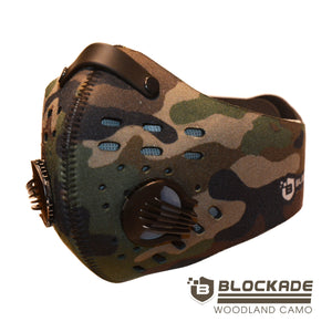 Blockade Woodland Green Camo Face Mask