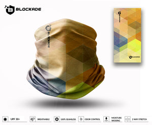 Blockade UPF Neck Gaiter - Geometric Gradient Yellow