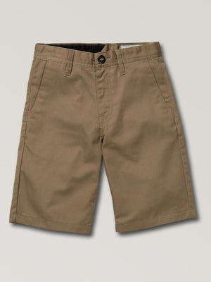 Volcom Boys Frickin Chino Short - Khaki SURF WORLD