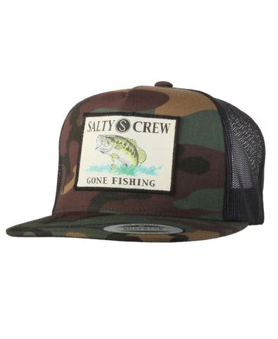Salty Crew Big Mouth Patched Trucker Hat - Camo