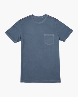 RVCA PTC 2 Pigment SS Mens T Shirt - China Blue