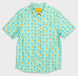 Flomotion Champ Men's Woven Shirt w/ Oranges - Mint SURF WORLD