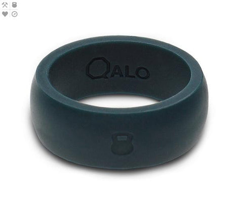 Qalo Men's Silicone Ring With Compass - Slate Grey - SURF WORLD Florida