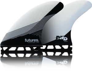 Futures DHD Honeycomb Thurster Fins Large - Black White SURF WORLD