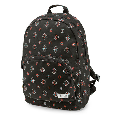 Volcom Schoolyard Canvas Backpack - Black Combo
