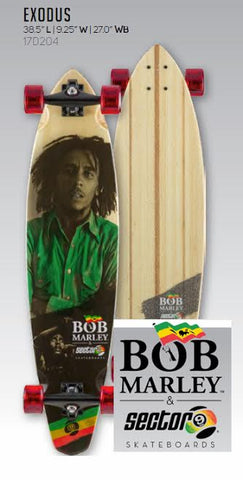 "Sector 9 Bob Marley Edition Exodus 17 Complete Skateboard 38.5"" X 9.25"" - SURF WORLD Fort Lauderdale Florida"