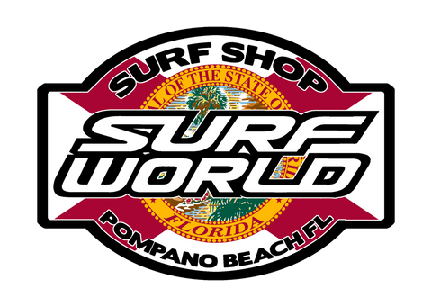 Surf World Florida Flag Sticker Die Cut Full Color Printed Sticker - SURF WORLD