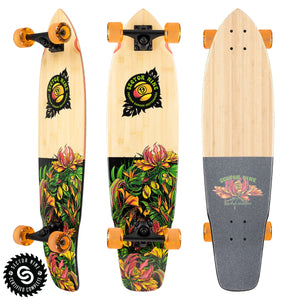 "Sector 9 Ft Point Eden 34"" Longboard Skateboard - Bamboo"