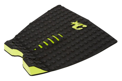 Creatures Of Leisure Mick Fanning Black LIme Surf Traction Pad - SURF WORLD Florida