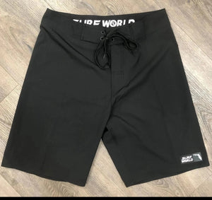 Surf World Collection All Blackout FL Boardshorts - All Black - Florida