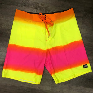 Surf World Gnarly Seas FL Boardshorts -Neon Yellow Orange