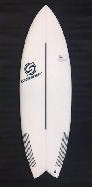 "SOLD Skinner 5'6 x 20.8"" x 2 1/2"" 30.2 Liters Twin Fin + Swallow Tail EPS Epoxy Surfboard SURF WORLD"