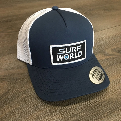 Surf World Trucker Hat Medium Blue