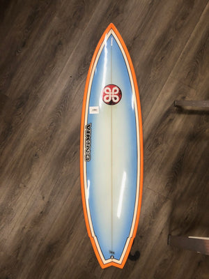 Viking Surfboards 5'7 Twin Fin Clark Color