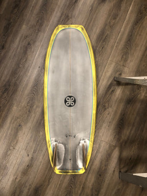 "Viking Surfboards 5' 1/4"" Futhark Twin Fin + wood"