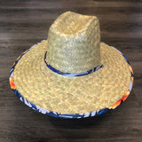 Goldcoast Kenny Blue Leaf Underbrim Straw hat - Natural