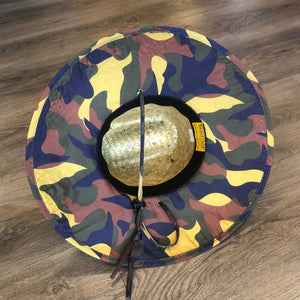 Goldcoast Kenny Camo Underbrim Straw hat - Natural