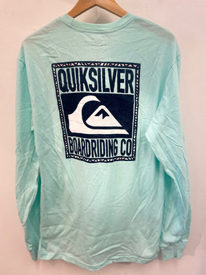 Quiksilver Old Friends Men's  LS Tee Shirt - Aqua