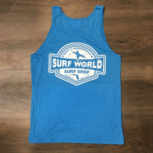 Surf World LB Florida Tank Top - Brite Heather Blue or Heather Slate SURF WORLD